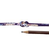 ちりめん丸ひも・柄・3ミリ(実寸約4ミリ) まり菊・紫