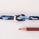 ちりめん丸ひも・柄・3ミリ(実寸約4ミリ)春爛漫・紺