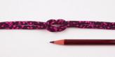 ちりめん丸ひも・小紋調柄・3ミリ(実寸約4-5ミリ) 舞桜・紺