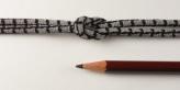 ちりめん丸ひも・小紋調柄・3ミリ(実寸約4ミリ) 手裏剣・灰色