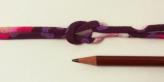 ちりめん丸ひも・モダン柄・3ミリ(実寸約4ミリ) 椿心・紫
