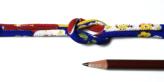 ちりめん丸ひも・柄・4ミリ(実寸約5-6ミリ) 彩り椿・ブルー