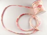 ちりめん丸ひも・柄・4ミリ(実寸約5-6ミリ) 桜重ね・ピンク