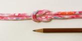 ちりめん丸ひも・柄・4ミリ(実寸約5-6ミリ) みだれ桜・ピンク