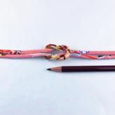 ちりめん丸ひも・柄・4ミリ(実寸約5-6ミリ) 典雅・ピンク