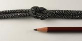 ちりめん丸ひも・小紋調柄・4ミリ(実寸約5-6ミリ) 青海波・灰色