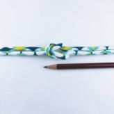 ちりめん丸ひも・モダン柄・4ミリ(実寸約5-6ミリ) 七宝・青緑