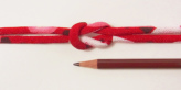 ちりめん丸ひも・モダン柄・4ミリ(実寸約5-6ミリ) 椿心・赤