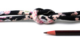 ちりめん丸ひも・柄・8ミリ(実寸約9-10ミリ) 小桜・黒