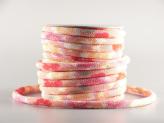 ちりめん丸ひも・柄・8ミリ(実寸約9-10ミリ) 桜重ね・ピンク