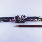 ちりめん丸ひも・柄・8ミリ(実寸約9-10ミリ) 桜はしり・紺