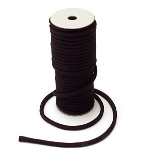 ちりめん丸ひも・無地・4ミリ(実寸約5-6ミリ) 黒紫