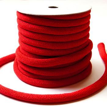 ちりめん丸ひも・無地・8ミリ(実寸約9-10ミリ) 赤