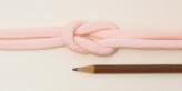 ちりめん丸ひも・無地・8ミリ(実寸約9-10ミリ) 桜色