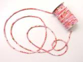 ちりめん丸ひも・柄・5ミリ(実寸約5-6ミリ) 四季花・ピンク