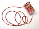 ちりめん丸ひも・柄・5ミリ(実寸約5-6ミリ) 菊水・赤
