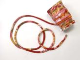 ちりめん丸ひも・柄・7ミリ(実寸約7-8ミリ) 菊水・赤