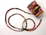 ちりめん丸ひも・柄・7ミリ(実寸約7-8ミリ) 菊水・黒赤紫