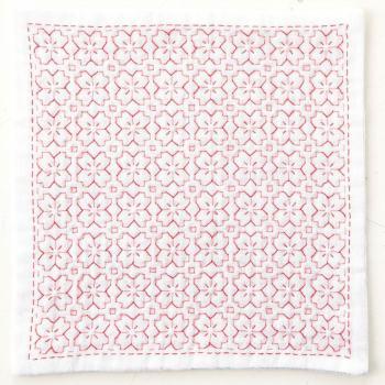刺し子キット ハンカチiine/イーネ 桜の花