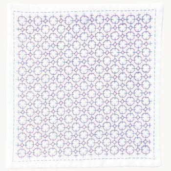 刺し子キット ハンカチiine/イーネ 紫陽花