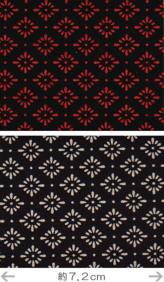 印伝調生地・菊菱(92×50cm)