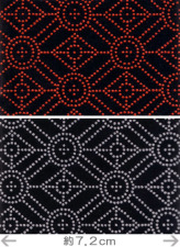 印伝調生地・幾何学文様(92×50cm)