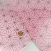 ハードチュール 麻の葉柄 ピンク