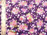 ちりめん生地・桜姫手まり(紫)