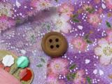 ちりめん生地・優美桜(薄紫)