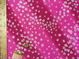 ちりめん生地・さやがたに白桜(赤紫)