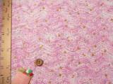 ちりめん生地・波にゆれる小桜(ピンク)