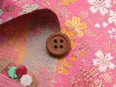 金らん・竹垣に桜(ピンク)