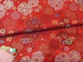 金らん・花型に和文様づくし(赤)