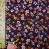 金襴生地(金らん)斜めたてわくに彩り桜(古代紫)