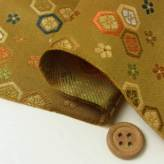 金襴生地(金らん)花菱亀甲(おうど色)