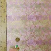 金襴生地(金らん)雪輪に桜と和花(ピンク)
