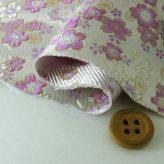 金襴生地(金らん)桜のコンチェルト(白/薄紫)