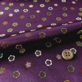 金襴生地(金らん)祇園木瓜紋(紫)