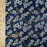 金襴生地(金らん)瑠璃桜(紺色)