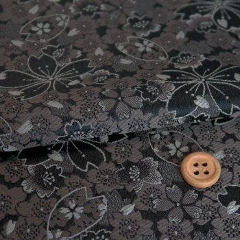 金襴生地(金らん)夜桜幻想(黒)