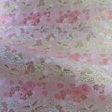 金襴生地(金らん) 鳳凰と花(ピンク)