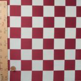 西陣織物 市松柄4.4cm角(えんじ/白)