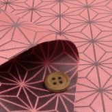 西陣織物 麻の葉柄(ピンク)