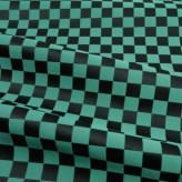 西陣織物 市松柄・小(黒/緑)