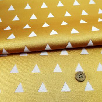 西陣織物 三角うろこ模様(金茶色)