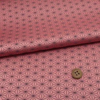 西陣織物 小さな麻の葉柄(ピンク)