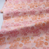 金襴生地(金らん) はんなり重ねた桜(淡いサーモンピンク)