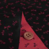 西陣織物 とんぼ柄(黒/赤)