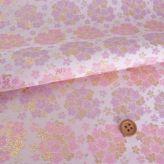 金襴生地(金らん) 桜のブーケ(ピンク/薄紫)
