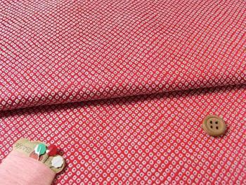 金らん・鹿の子織(赤)